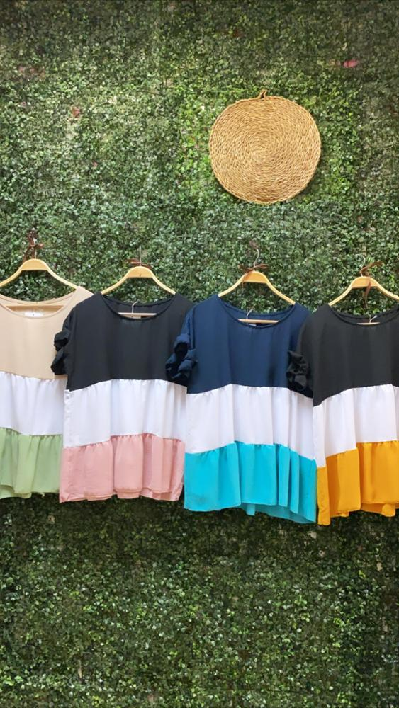 Blusas Tricolor