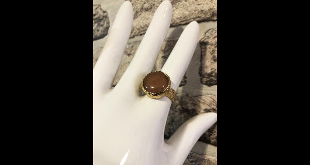 Amber Boy Stone Ring