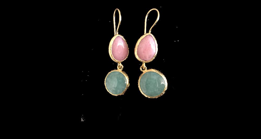 Two-stone earrings