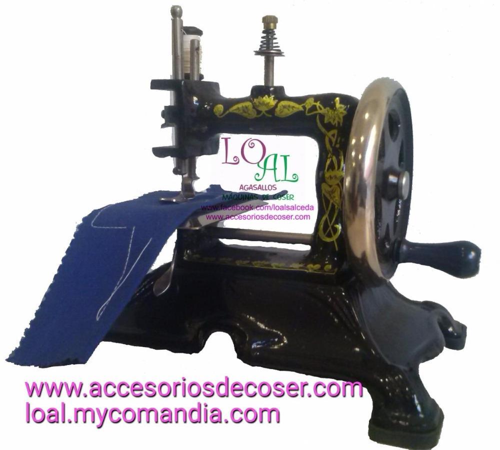 Máquina de coser minaturar, maquina de coser imitacion antigua, maquina de coser para decorar