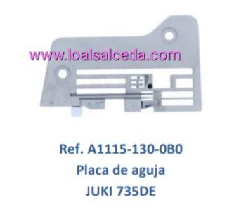 PLACA DE AGUJA REMALLADORA JUKI 735DE