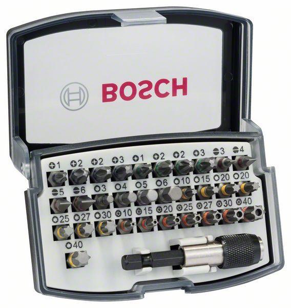 Bosch Estuche Puntas 32 Uds con adaptador