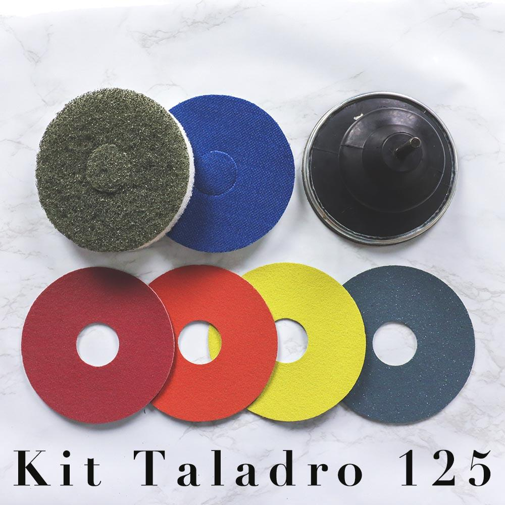 Kit Taladro 125 micro pulido y abrillantado