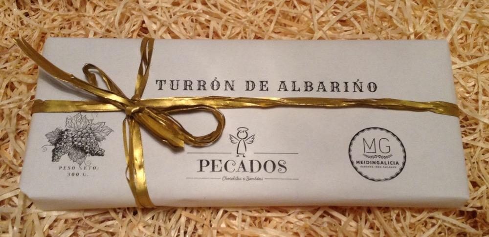 MEIDINGALICIA TURRÓN DE CHOCOLATE Y  ALBARIÑO
