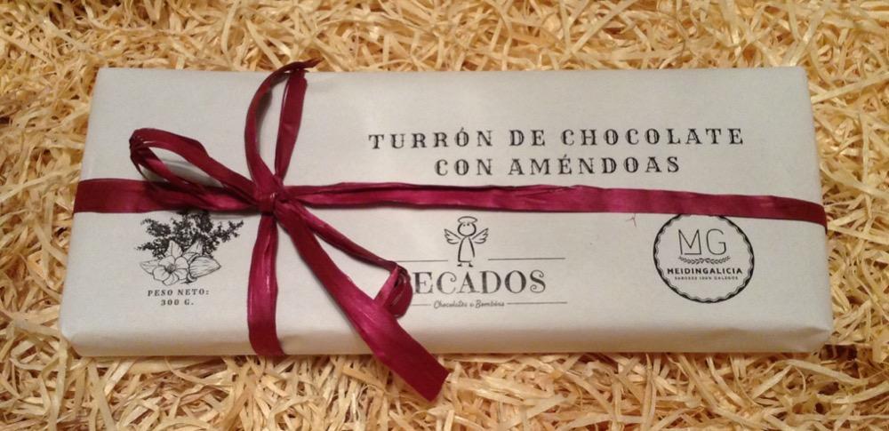 MEIDINGALICIA TURRÓN DE CHOCOLATE Y ALMENDRA
