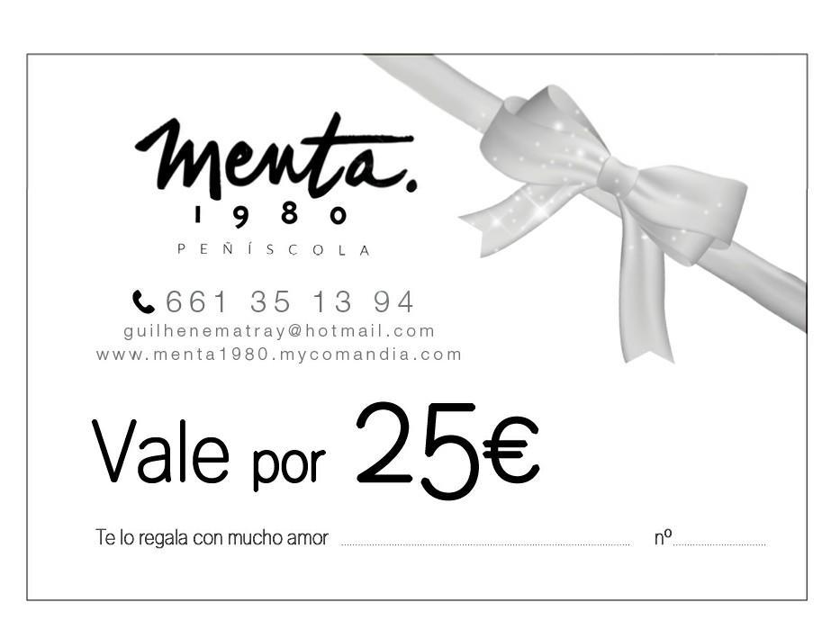 MENTA 1980 VALE REGALO 25€