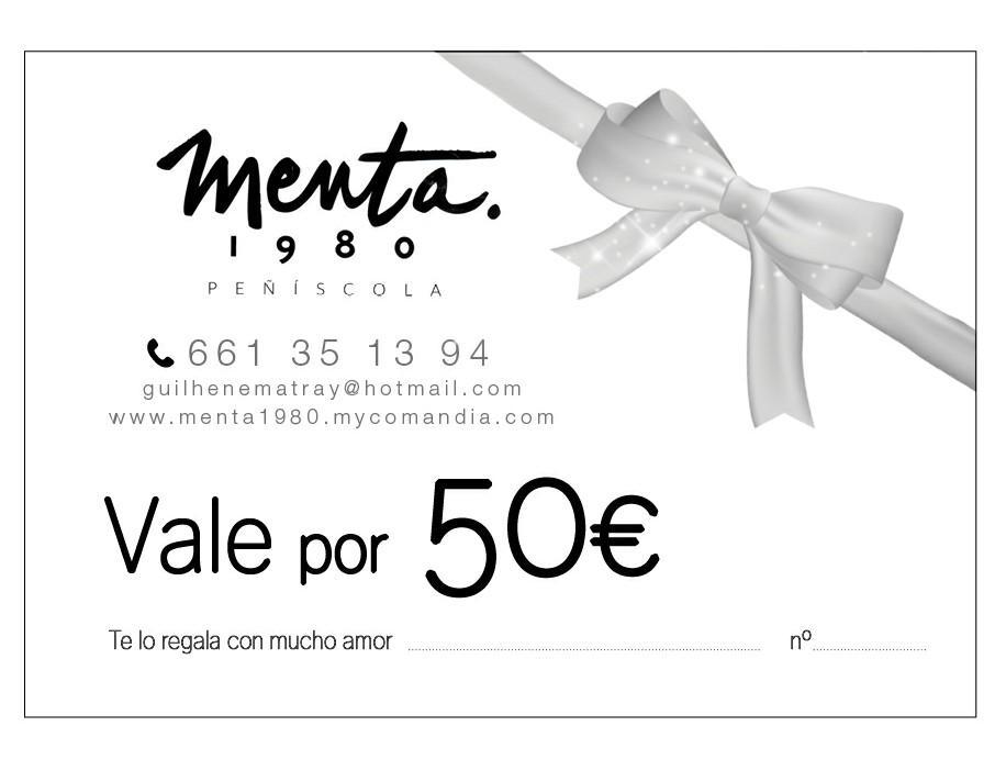 MENTA 1980 VALE REGALO 50€