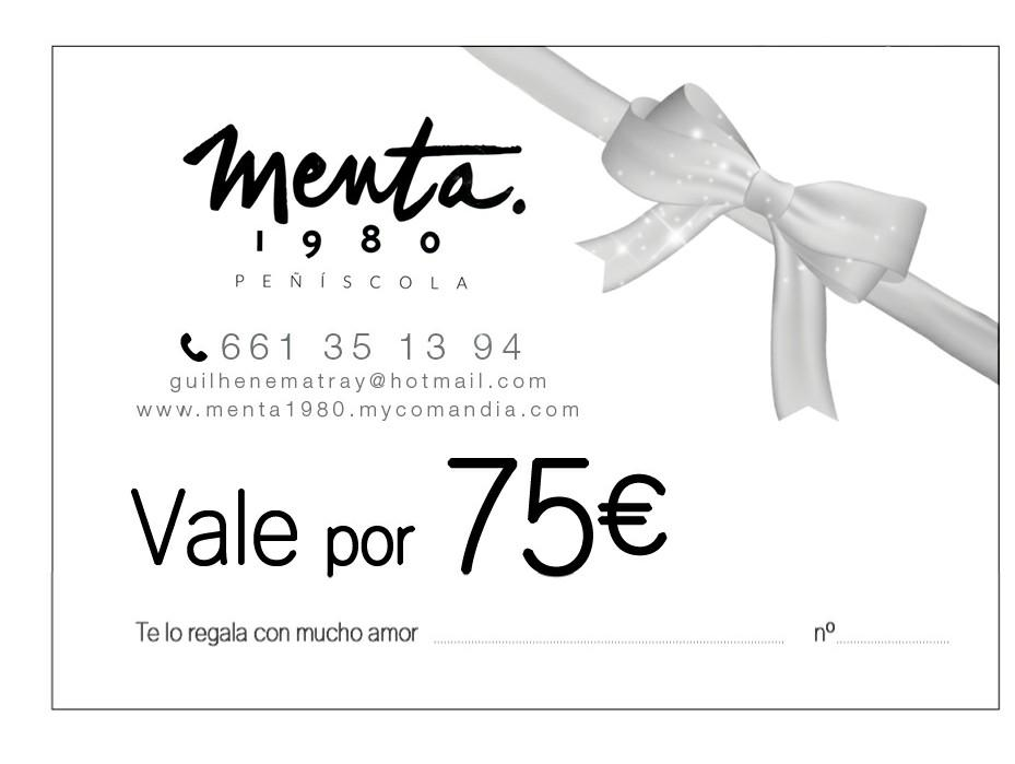 MENTA 1980 VALE REGALO 75€