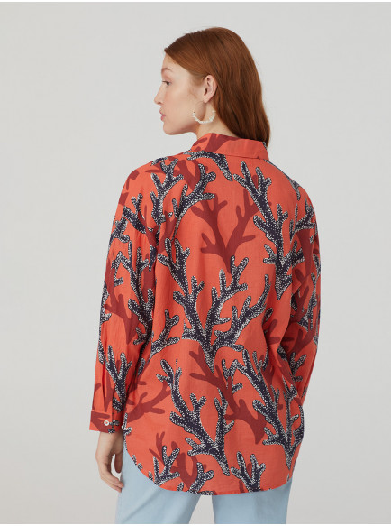 NICE THINGS CAMISA OVERSIZE CORALS