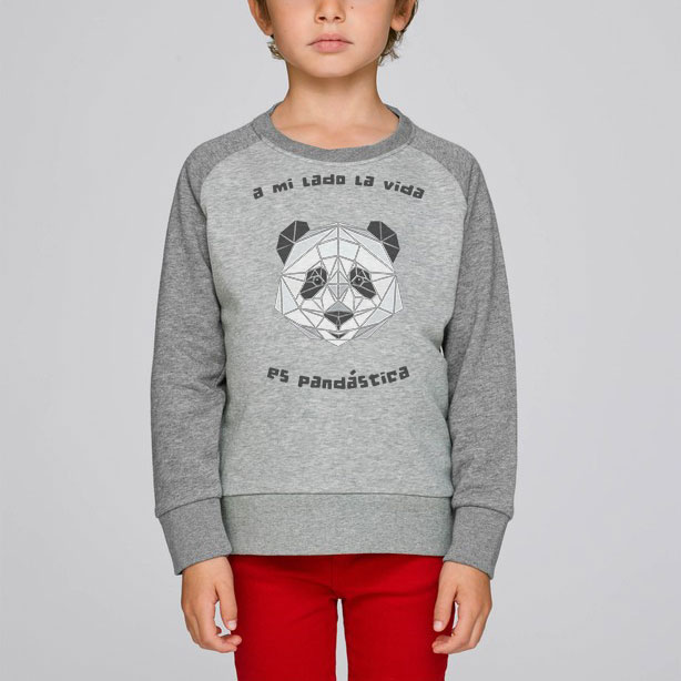 Panda (Infantil Sudadera unisex)