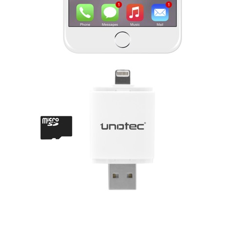 UNOTEC iDrive Lector Lightning para iPhone y iPad