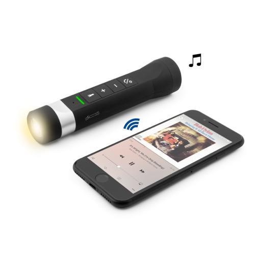 UNOTEC Altavoz Bluetooth para Bicicleta con Manos Libres y Linterna