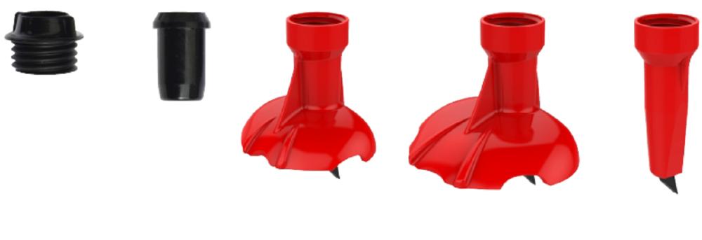 KV+ Set puntas cambio rápido rojo