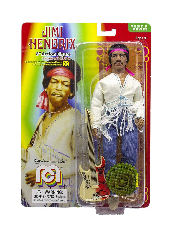 Jimi Hendrix Figura Woodstock Flocked 20 cm