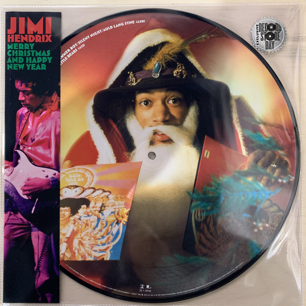 Sony Music PICTURE DISC Jimi Hendrix Merry Christmas and Happy New Year