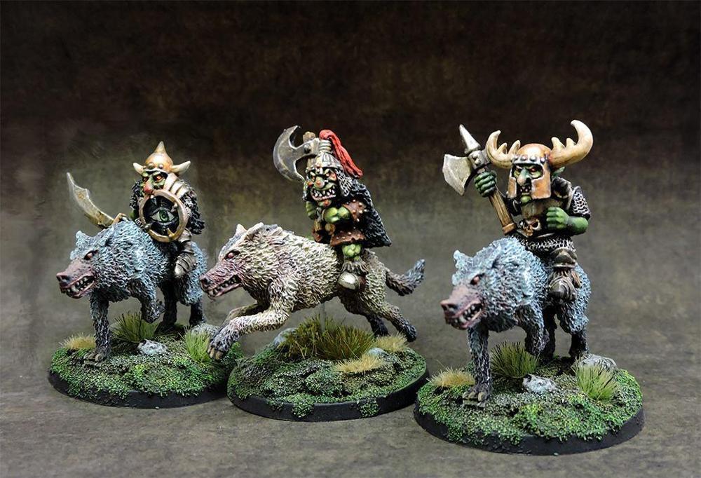 Black goblins wolf riders