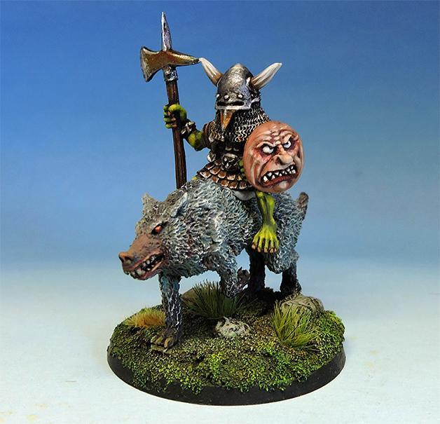Bulbus Peppernose, legendary goblin hero on wolf