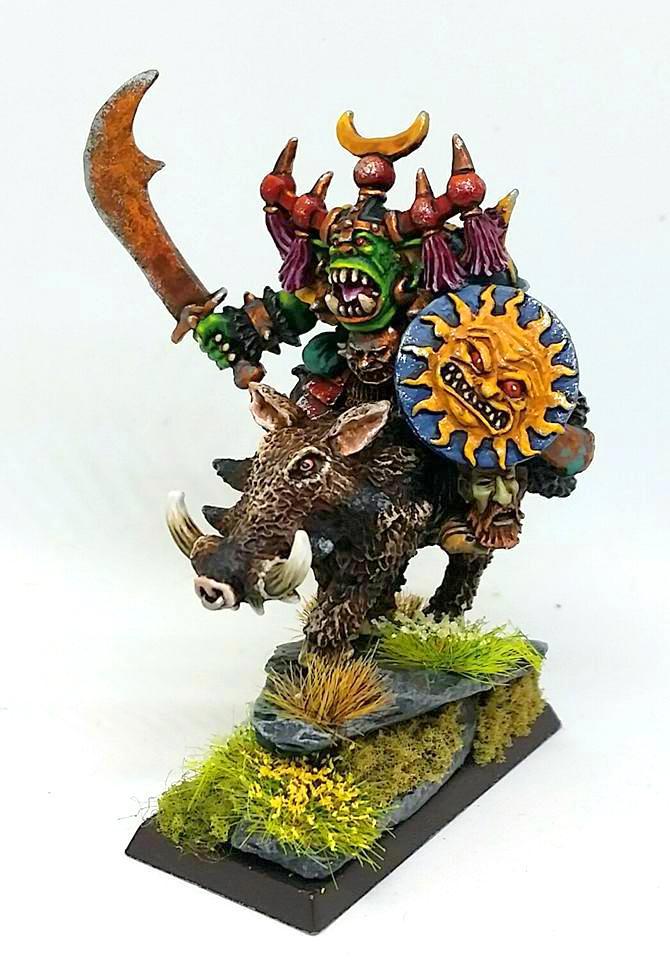 Comandante Orco en jabalí