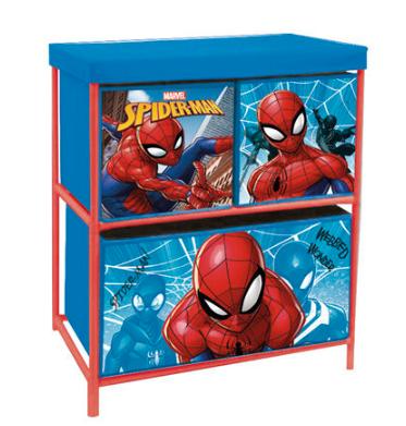 MARVEL Storage rack with 3 Spiderman drawers
