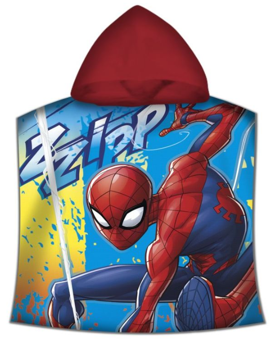MARVEL Spiderman 120x60cm Cotton Beach Towel Poncho