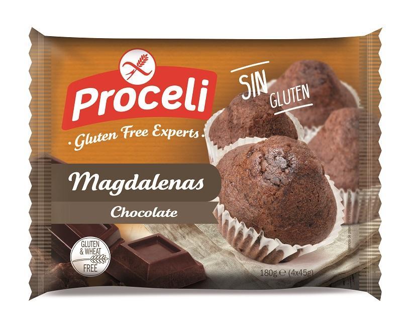 Proceli Magdalenas Chocolate (4Ux45g)