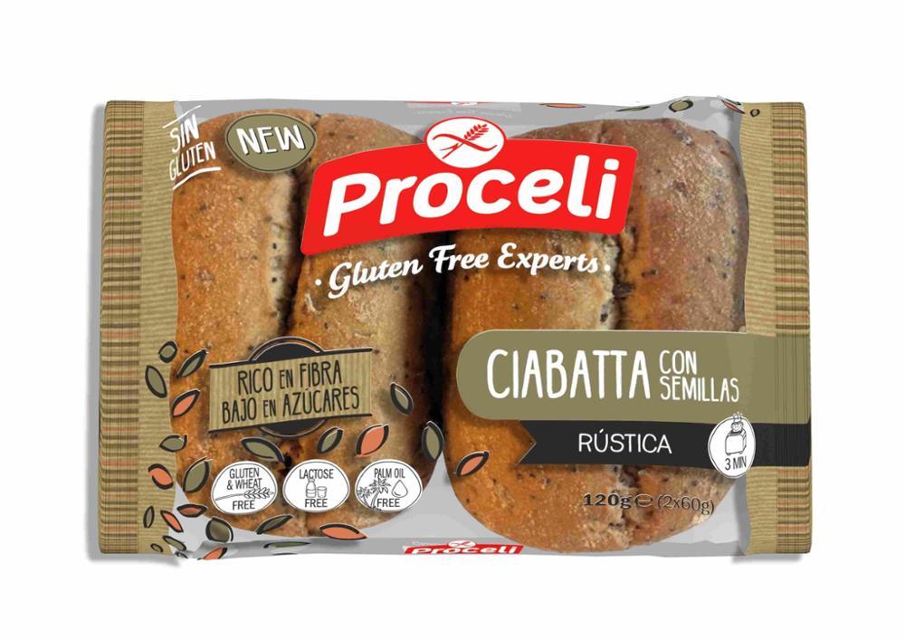 Proceli Ciabatta Rústica con semillas 120g (2U x 60 g)