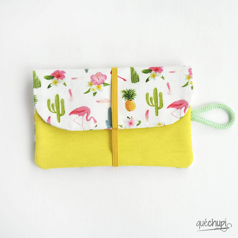 Cartera flamings-amarillo