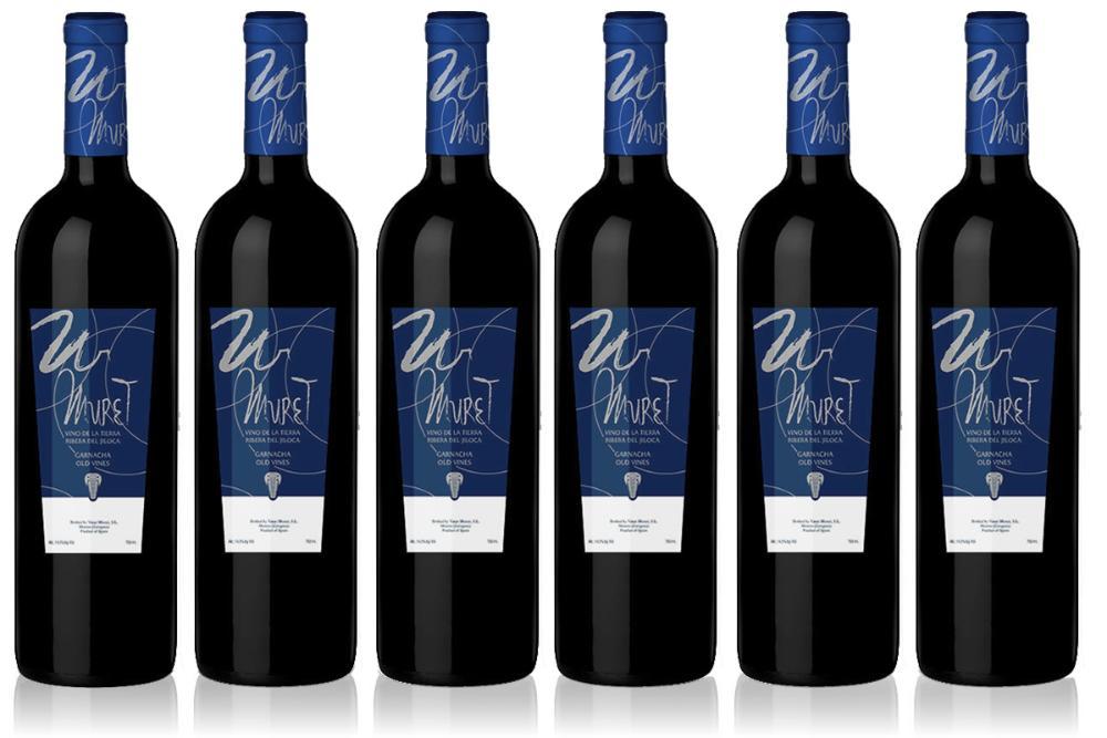 6 Botellas Vino Muret. Vino garnacha