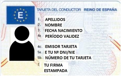 Tarjeta Conductor Andalucía