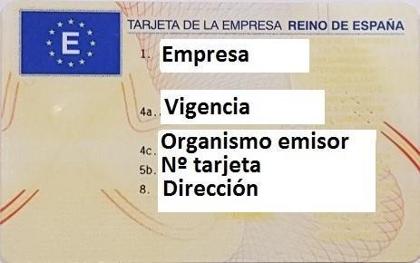 Tarjeta Empresa Catalunya / Cataluña