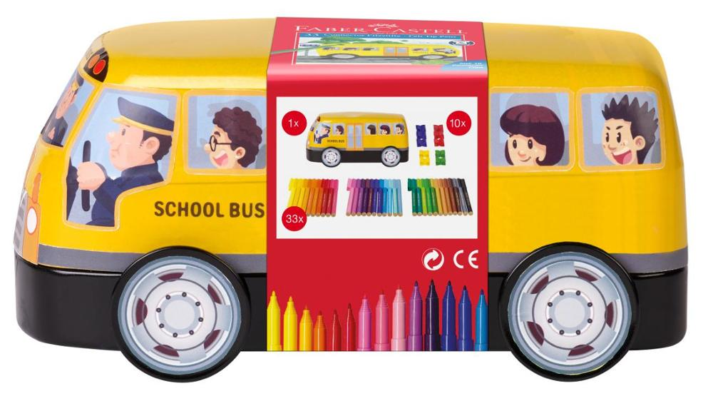 Faber-Castell Autobús Escolar Amarillo Rotuladores