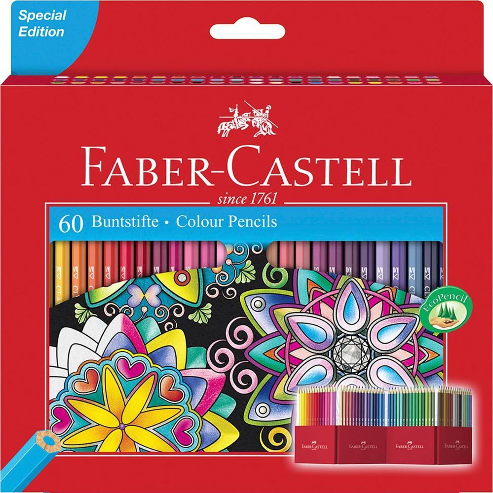 Faber-Castell Lápices de Colores 60 Unidades