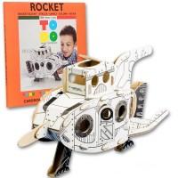 ToDo Talent Cardboard Rocket - Cohete