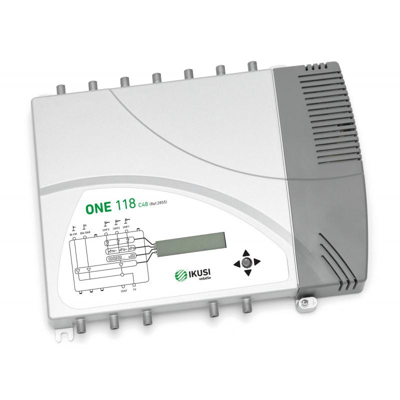 Ikusi Central TV Programable FM/DAB/3xUHF ONE118