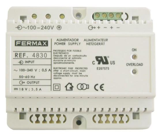 Fermax Alimentador DIN6 240Vac/18Vdc 3.5A 4830