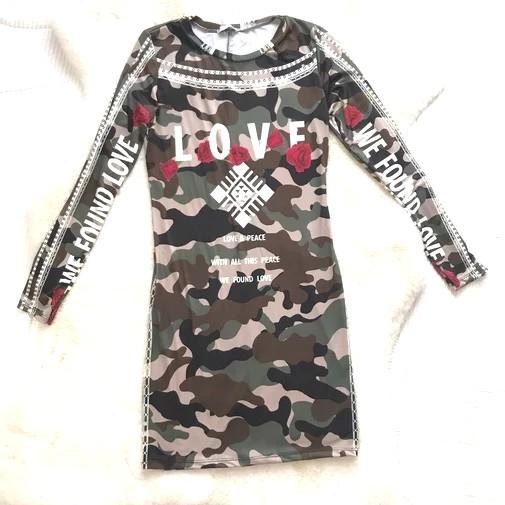 VESTIDO ARMY LOVE