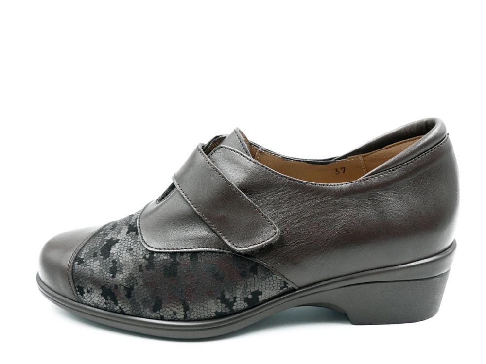 PIESANTO Zapato piel Abotinado Caoba, plantilla extraible - 185615 - 151