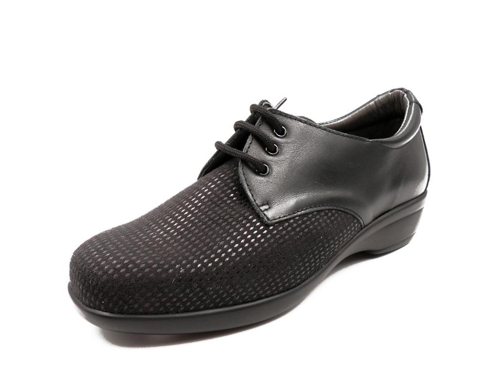 CALZAMEDI Zapato mujer, horma 13, piel elástica negra - 20613-11