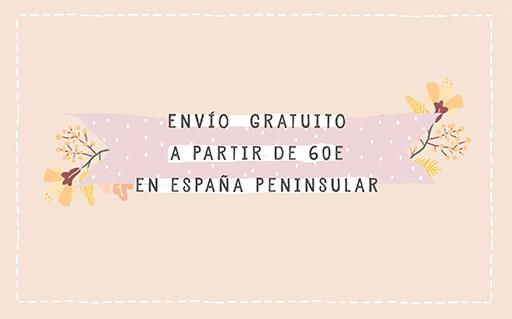 Envío gratuito a partir de 60 € en España peninsular | Cuquina